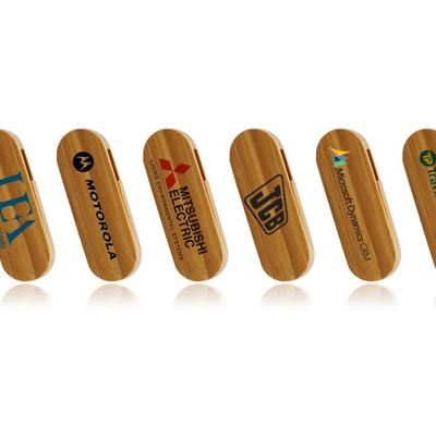 Bamboo Swivel USB