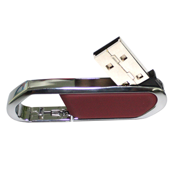 Carabiner Style Leather USB