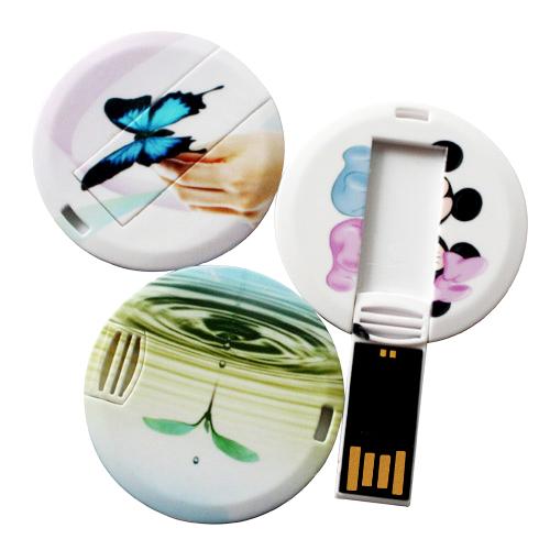 Round Plastic USB